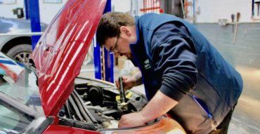car serviced by mechanic at Warwick garage